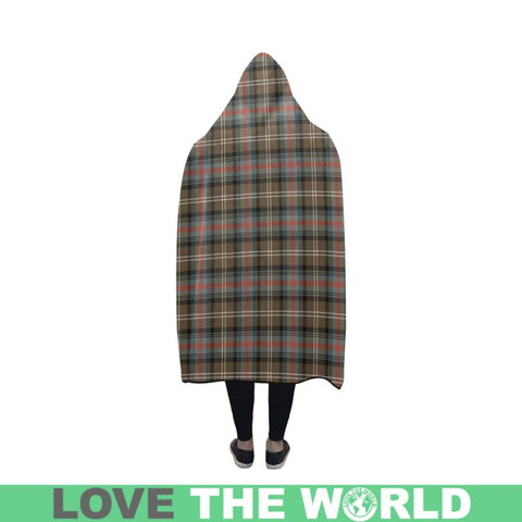 Image of Sutherland Weathered Tartan Hooded Blanket - Bn | Love The World
