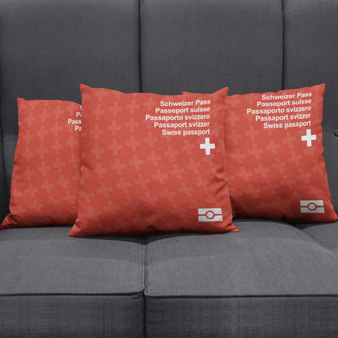 Pillow Case- Switzerland Passport - Bn02 | 1sttheworld.com
