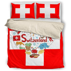 Switzerland Bedding Set 01 Bedding Set - Beige / Twin Sets