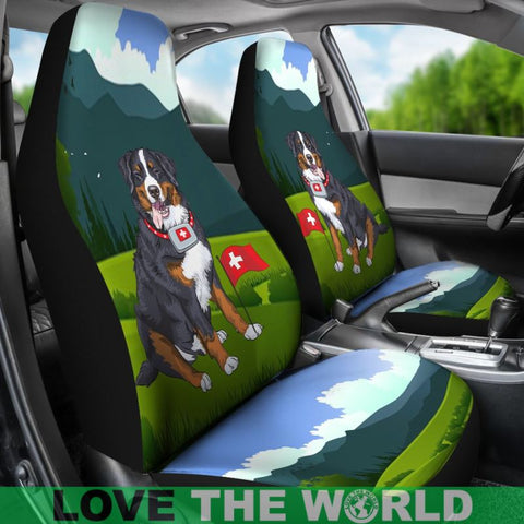 Switzerland Car Seat Covers - Swiss Bernese Mountain Dog - Bernese Dog - Swiss Dog - Switzerland Flag - Swiss Car Seat Covers - Switzerland Symbols