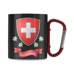 Switzerland Coat Of Arms And Edelweiss Mug H1 Insulated Mugs