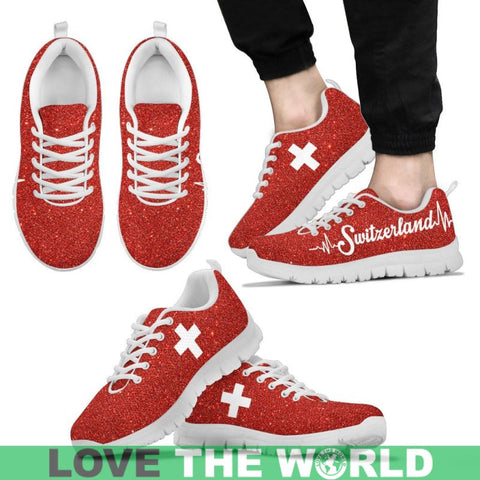 Switzerland Flag Sneakers H1 Mens Sneakers - Black / Us5 (Eu38)