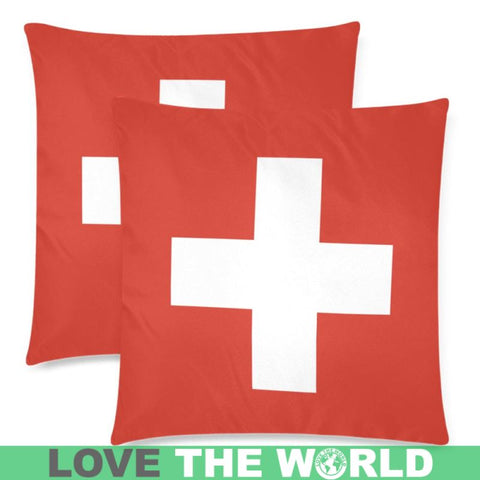Switzerland Flag Zippered Pillow A0 One Size / 18X18 (One Side) Pillows