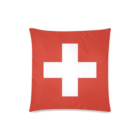 Image of Switzerland Flag Zippered Pillow A0 One Size / 18X18 (One Side) Pillows