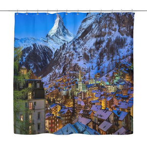 Switzerland Mountain Shower Curtain - D1 Moutains Curtains