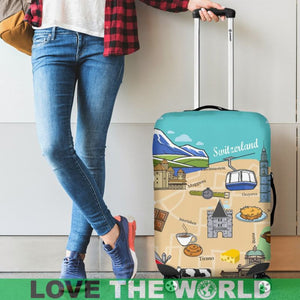 SWITZERLAND TRAVEL LUGGAGE COVER H21
