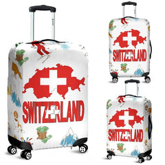 SWITZERLAND WITH MAP LUGGAGE COVERS HA8