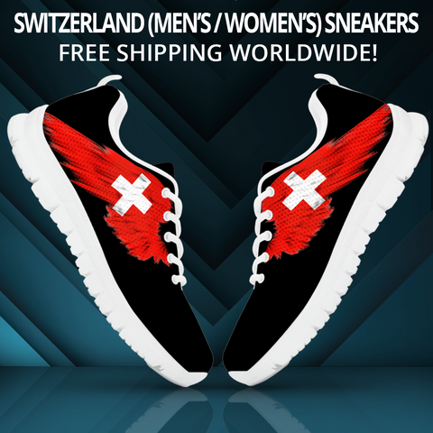 Image of Switzerland (Men's / Women'S) Black Sneaker A9