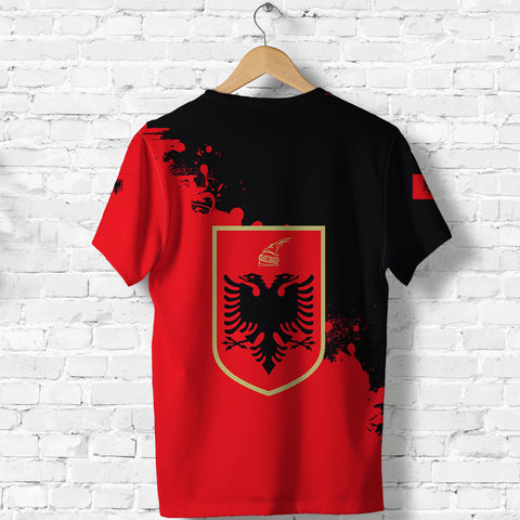Albania T Shirt Red Braved Version K12