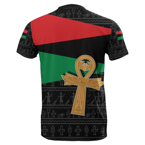 Pan African T-Shirt Flag With Ankh TH4