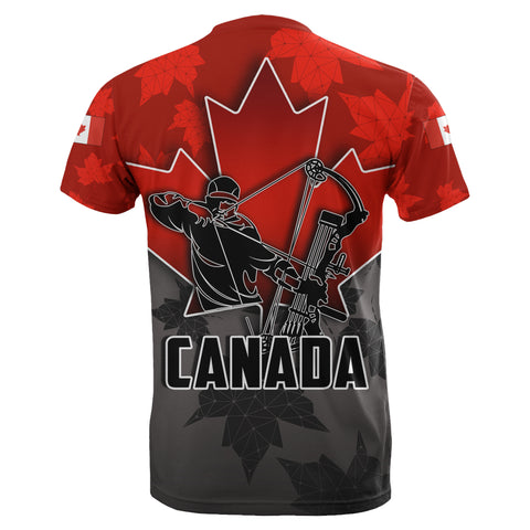 Canada T-Shirt Archery With Maple Leaf TH4
