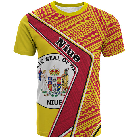 Niue T-Shirt - Polynesian Coat Of Arms | Love The World