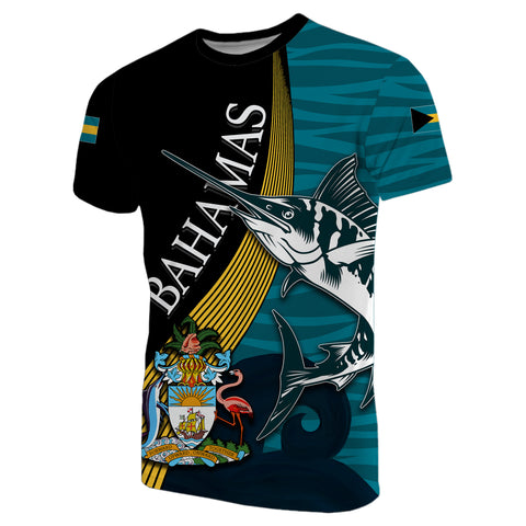 Bahamas Marlin T-Shirt Coat Of Arms
