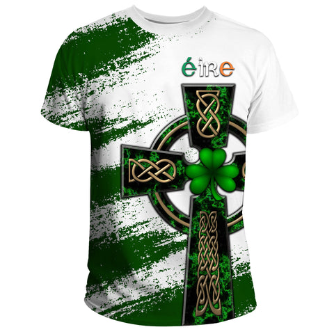 Ireland T-Shirt - Celtic Cross St Patrick's Day A24