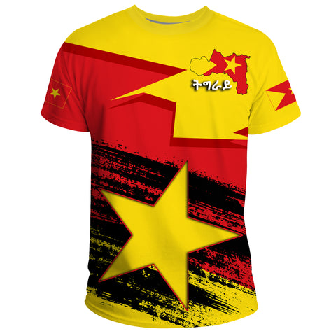 Tigray Flag And Map Special T-Shirt A27