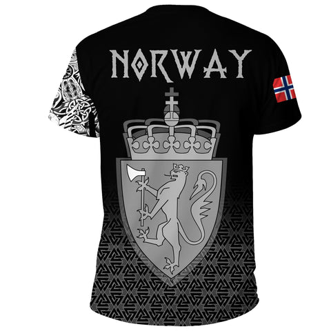 Viking Style T-Shirt - Norway Coat Of Arms A31