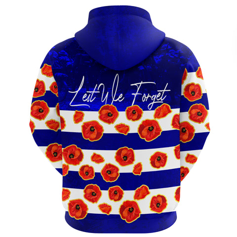 Australia Hoodie Lest We Forget Remembrance Day, Poppy A7