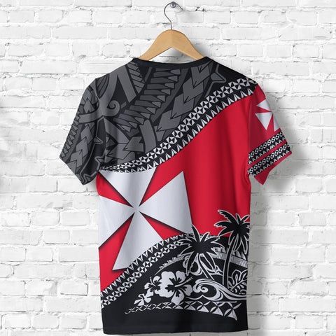 Image of Wallis And Futuna T Shirt Fall In The Wave - Back