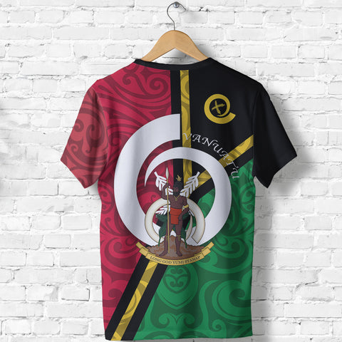 Image of Vanuatu Flag Design T Shirts - Back