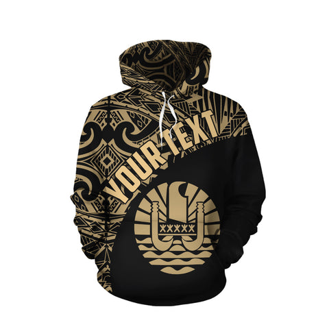Image of Tahiti All Over Hoodie Coat Of Arms Polynesian Custom Hoodie TH5