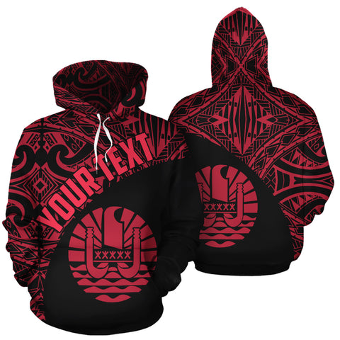 Tahiti All Over Hoodie Coat Of Arms Polynesian Custom Hoodie