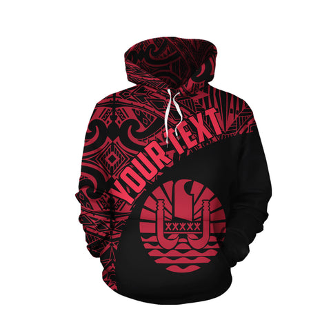 Tahiti All Over Hoodie Coat Of Arms Polynesian Custom TH5