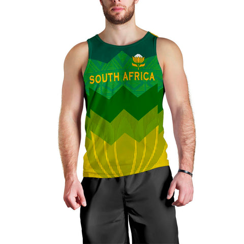 South Africa Men Tank Top Protea Style 1