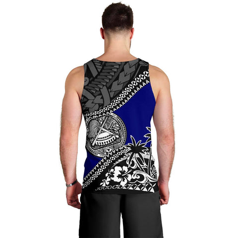 American Samoa Men Tank Top Fall In The Wave 2