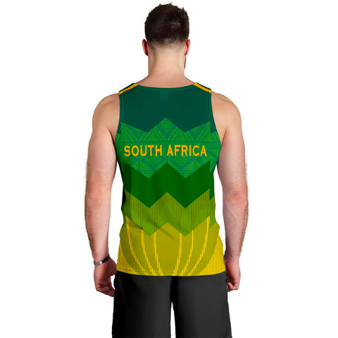 South Africa Men Tank Top Protea Style 2