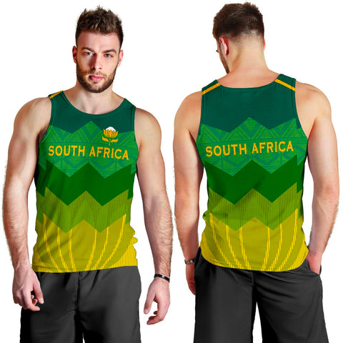 South Africa Men Tank Top Protea Style 3
