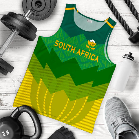 South Africa Men Tank Top Protea Style 5