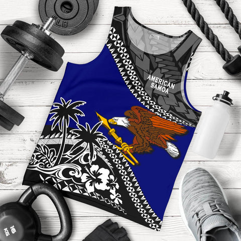 American Samoa Men Tank Top Fall In The Wave 5