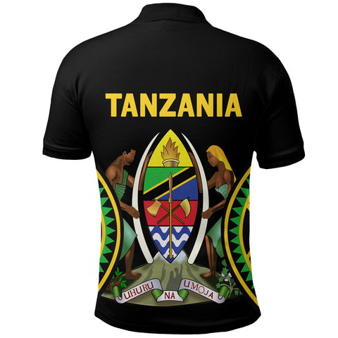 Tanzania Polo Shirt Maasai Shield back | CLothing | Love Tanzania