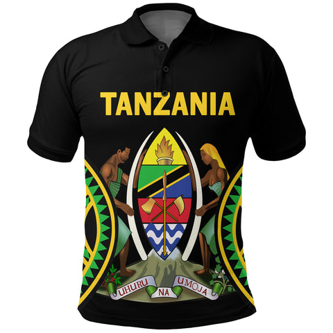 Tanzania Polo Shirt Maasai Shield | CLothing | Love Tanzania