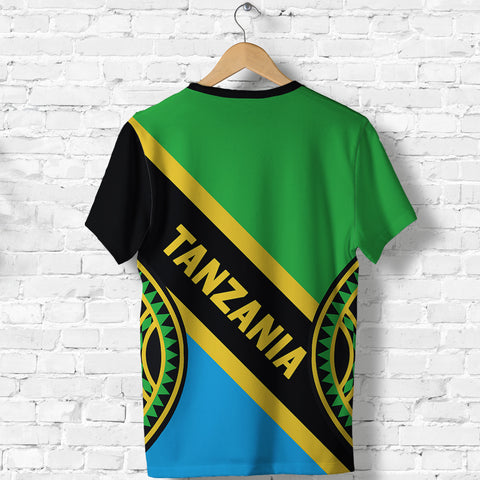 Tanzania Flag T Shirt Maasai Shield K4