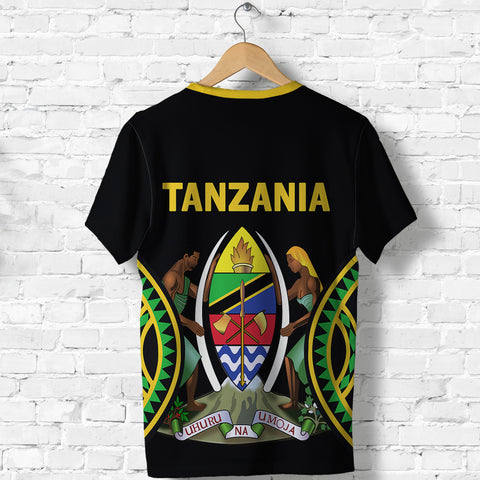 Tanzania T Shirt Maasai Shield K4