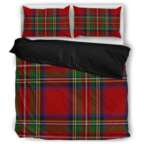 Tartan Bedding Set Bedding Set - Black / Twin Sets