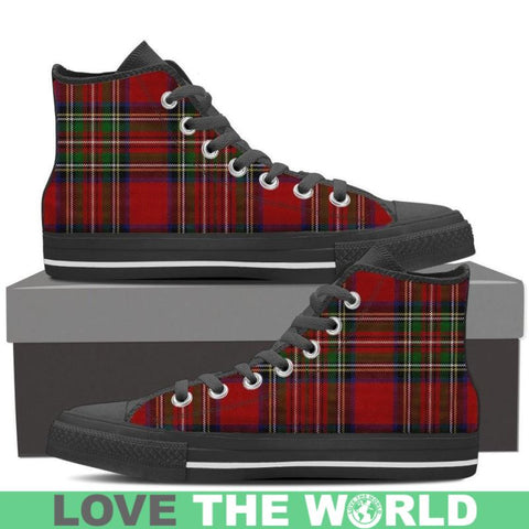 Tartan Canvas Shoes (Low/high) Mens Low Top - Black Low Black / Us8 (Eu40)
