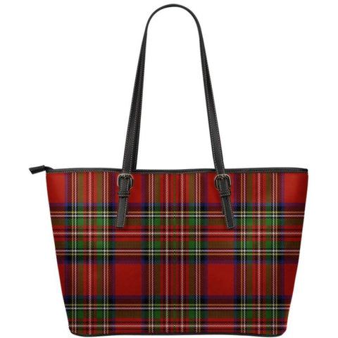 Stewart Royal Modern Tartan Handbag - Tartan Large Leather Tote Bag Th8 |Bags| Love The World