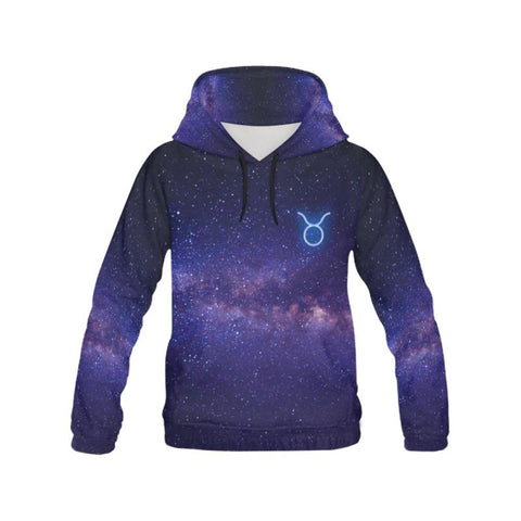 Taurus Star Galaxy All Over Print Hoodies H21 Xxxl / Star All Over Print Hoodie For Men/large Size