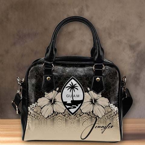 (Custom) Guam Shoulder Handbag Hibiscus Personal Signature A024