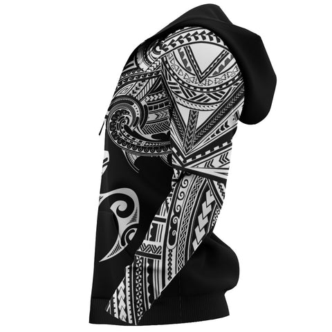 Image of Polynesian Turtle Tattoo Style All-Over Zipper Hoodie A07