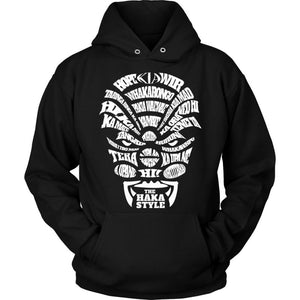 The Haka Style T-Shirts H1 Unisex Hoodie / Black S
