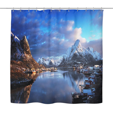 The Mountains Shower Curtain P1 Curtains