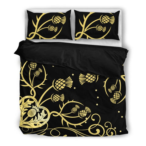 Thistle Bedding Set 011 Bedding Set - Black / Twin Sets