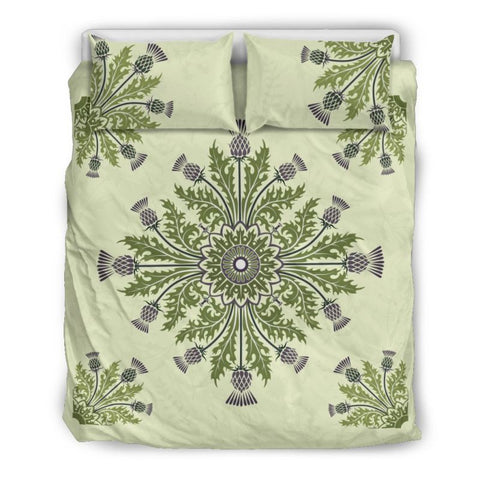 Thistle Flower Luxury Bedding Sets - Bn01 Bedding Set Beige Thistle / Queen/full