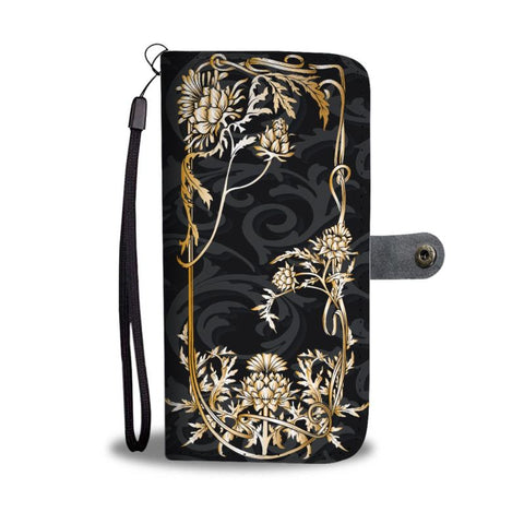 Scottish Thistle Golden Wallet Phone Case