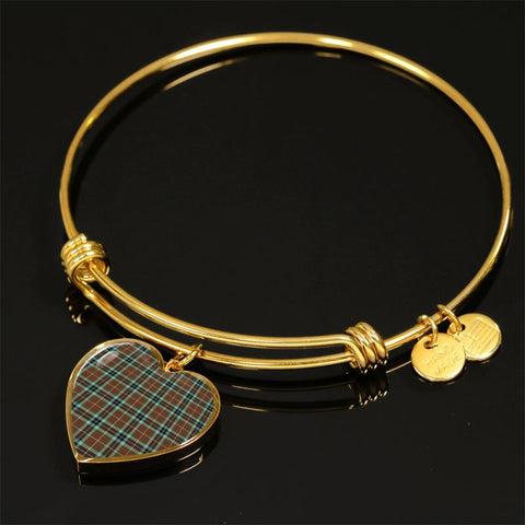 Thomson Hunting Modern Tartan Golden Bangle - Bn01 Adjustable Bangle Jewelries