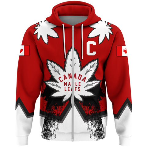 1stCanada Zip Hoodie Canadian Maple Leafs A7