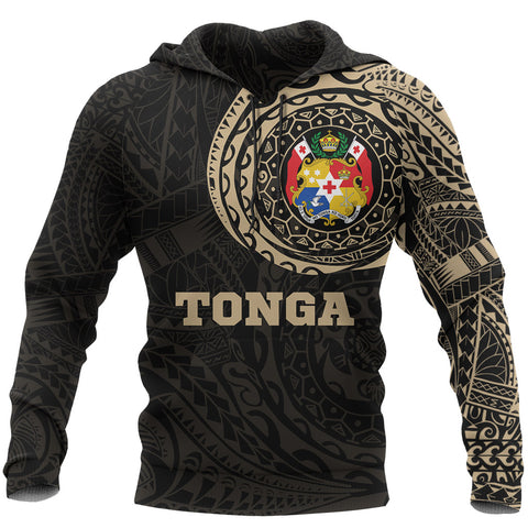 Tonga in My Heart Polynesian Tattoo Style Hoodie | Women & Men